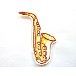 Ecusson saxophone thermocollant