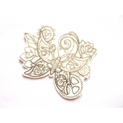 Patch thermocollant papillon steampunk