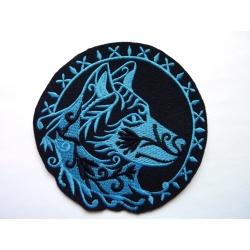 Broderie thermocollante d'une tête de loup (wolf)