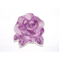 Appliqué fleur patch thermocollant rose (fleur) mauve