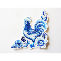 Patch thermocollant coq bleu (blue rooster)