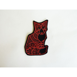 Appliqué patch thermocollant renard assis (fox)