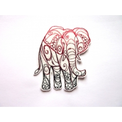 Patch thermocollant éléphant redwork