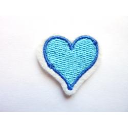Appliqué thermocollant petit coeur bleu