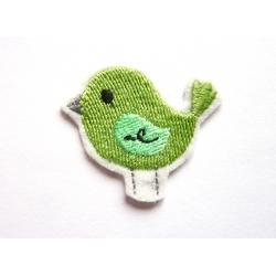 Patch thermocollant petit oiseau vert