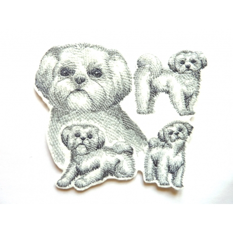 Patch thermocollant chiens shih tzu (croquis), dogs