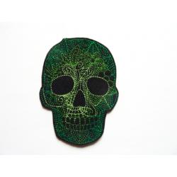 Patch thermocollant tête de mort verte