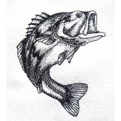 Achigan à grande bouche thermocollant (poisson)