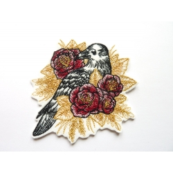 Corbeau et roses thermocollant