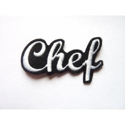 Appliqué patch prénom Chef