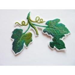 Ecusson thermocollant feuilles de vigne