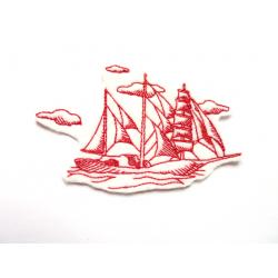 Patch thermocollant caravelle, voilier, bateau, goélette