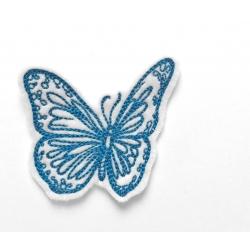 Ecusson papillon bleu