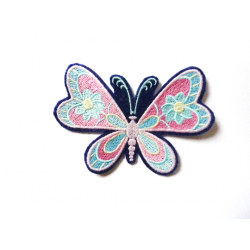 Patch thermocollant papillon décor fleurs (butterfly with flowers)