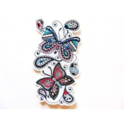 Patch thermocollant papillon superposés