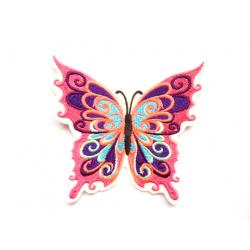 Ecusson thermocollant papillon multicolore