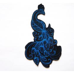 Grand paon bleu thermocollant (Peacock)