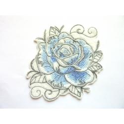 Ecusson thermocollant rose bleue