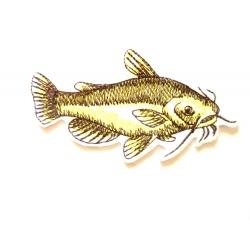 Ecusson thermocollant poisson barbotte jaune (fish)