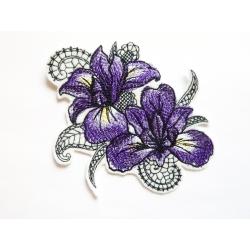 Ecusson thermocollant fleur, Iris