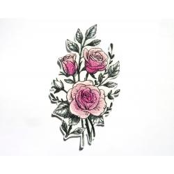 Patch thermocollant roses en bouquet (fleur)