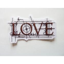 Appliqué patch thermocollant love scientifique