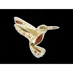 Patch thermocollant colibri doodle contour doré