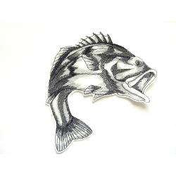 Achigan à grande bouche (petit modèle) thermocollant (poisson)