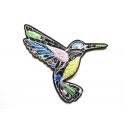 Patch thermocollant colibri doodle tourné vers la droite