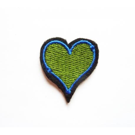 Patch thermocollant petit coeur vert