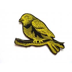 Ecusson thermocollant oiseau jaune