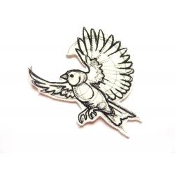 Ecusson thermocollant oiseau dessiné