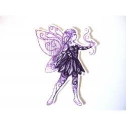 Ecusson thermocollant fée papillon