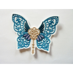 Appliqué, patch clé papillon