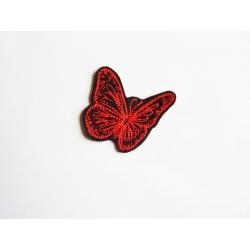 Papillon redwork thermocollant