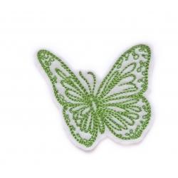 Papillon vert redwork thermocollant