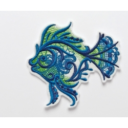 Ecusson poisson dentelles