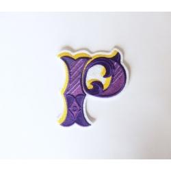 Appliqué, patch thermocollant lettre majuscule P
