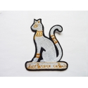 Appliqué thermocollant chat égytien (Bastet)