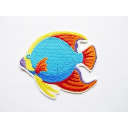 Broderie thermocollante poisson multicolore