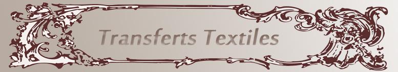 Nos transferts textiles en flex ou en flock
